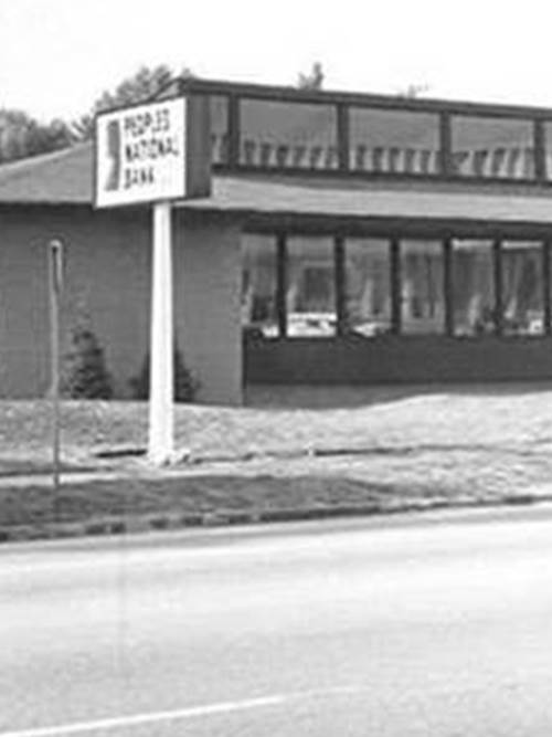 1970 photo of the Peoples National Bank that eventually become our East Branch in 1993