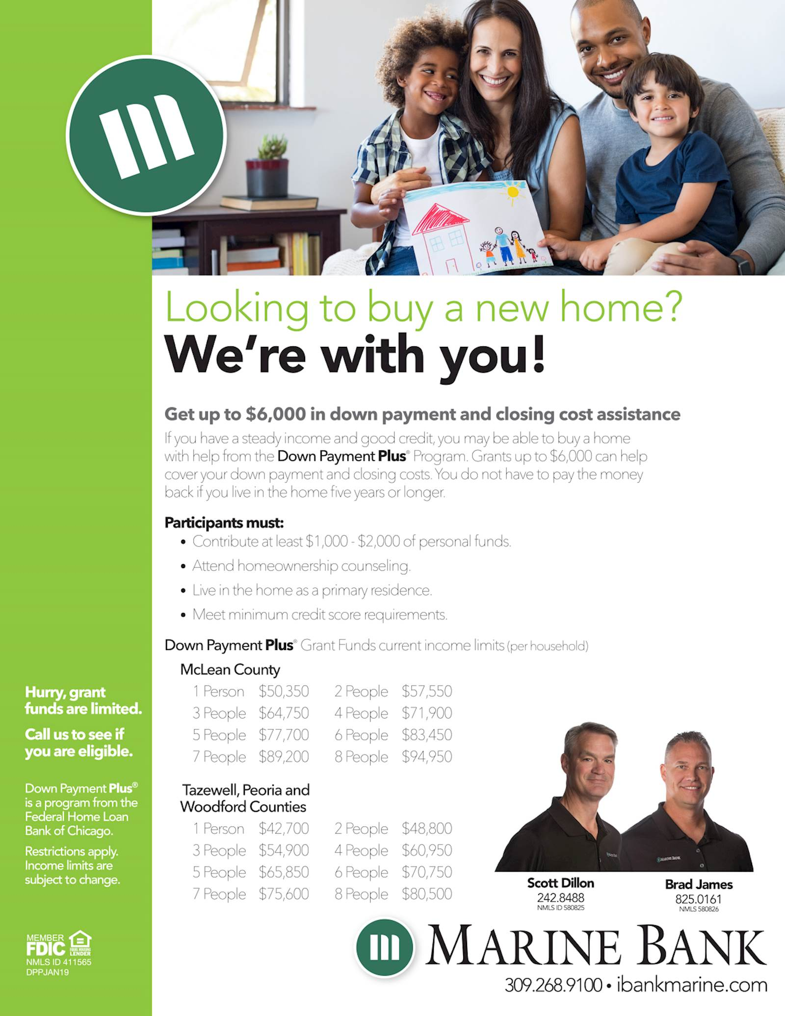 Down Payment Plus informational flyer